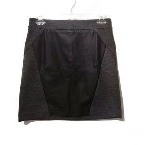 Dynamite Faux Leather Mixed Media Mini Skirt